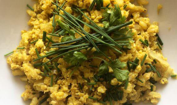 Spiced Vegan Cauliflower Rice