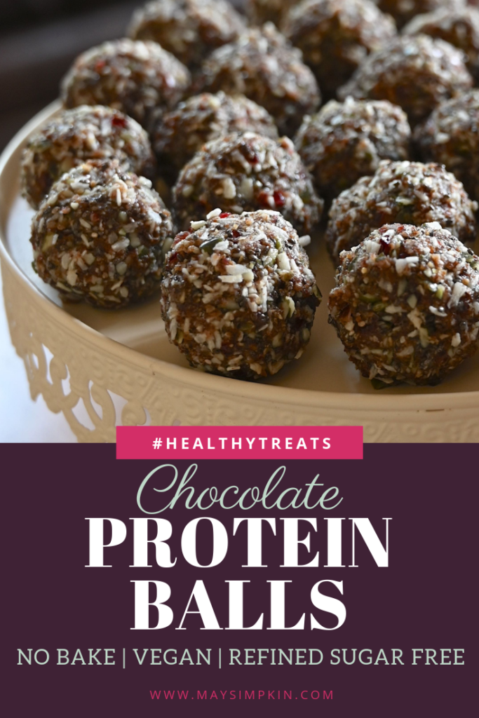 Healthy Chocolate Protein Balls #themayway