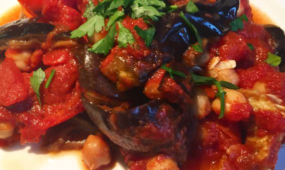Roasted Aubergine and Chickpea Moussaka