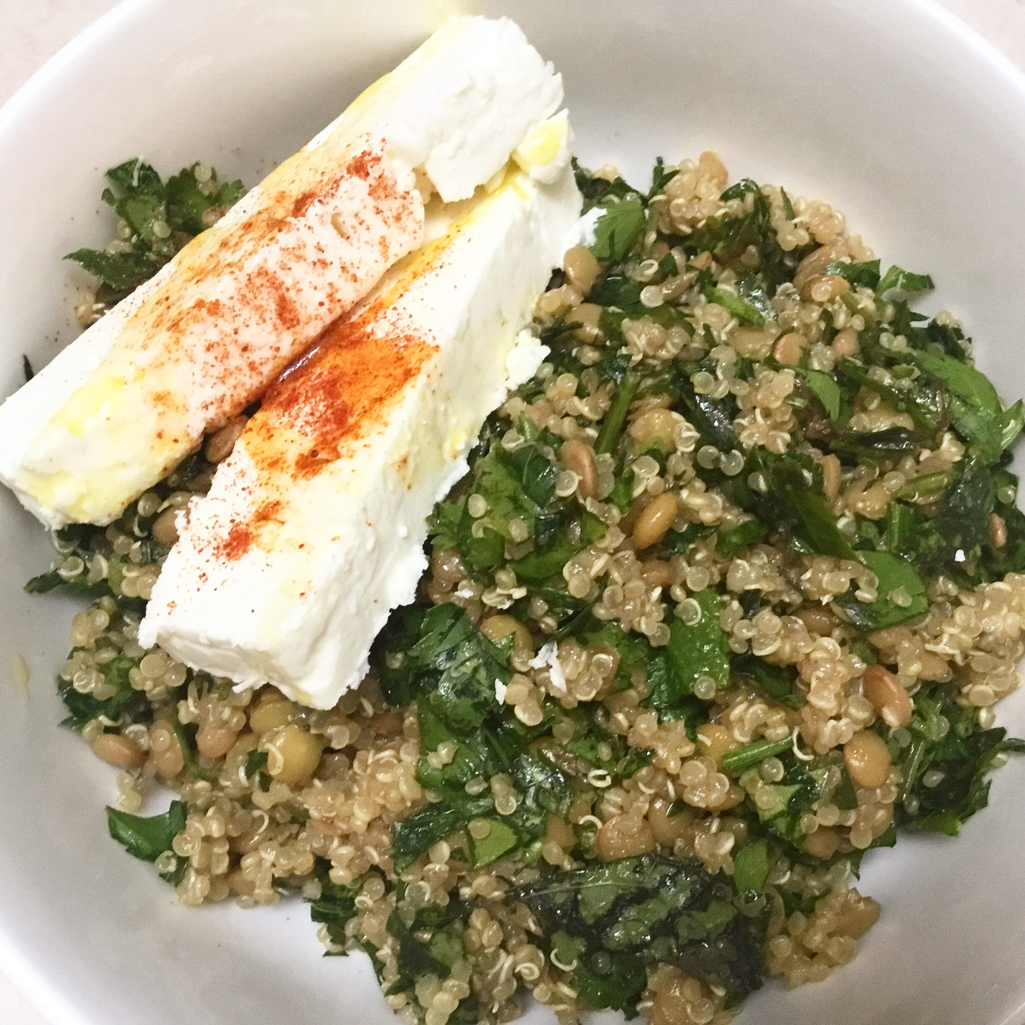 Quinoa and Lentil Tabbouleh