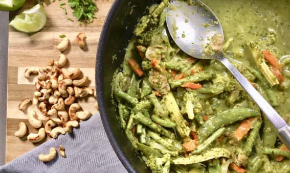 Homemade Thai Chicken Green Curry