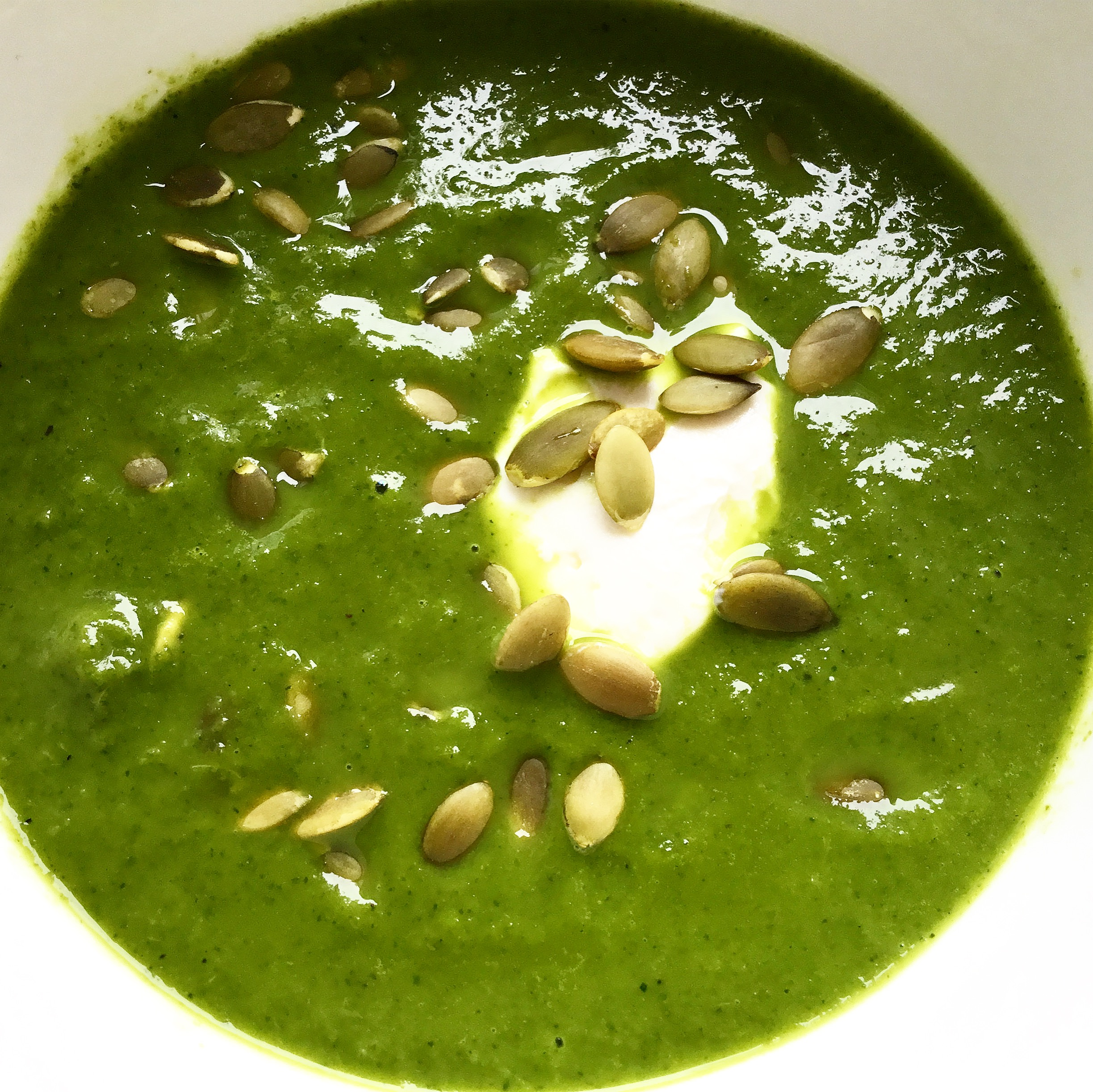 Kale and Courgette Soup