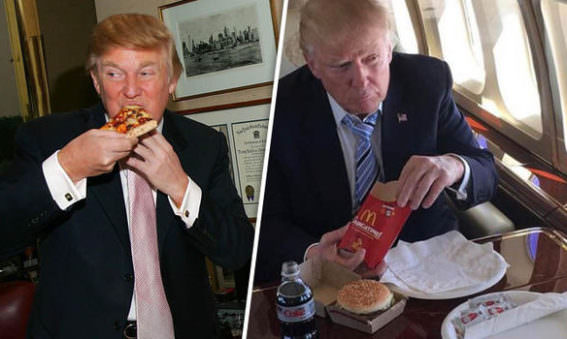 May Simpkin discusses Donald Trump's Diet of Macdonalds, Kentucky Fried Chicken and Burgers