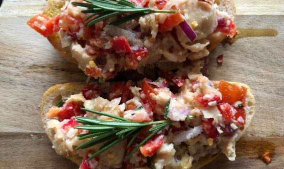 Healthy Butterbean and Tomato Bruschetta May Simpkin Nutrition