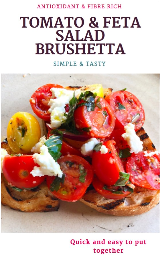 Tomato and Feta Salad Bruschetta May Simpkin Nutrition