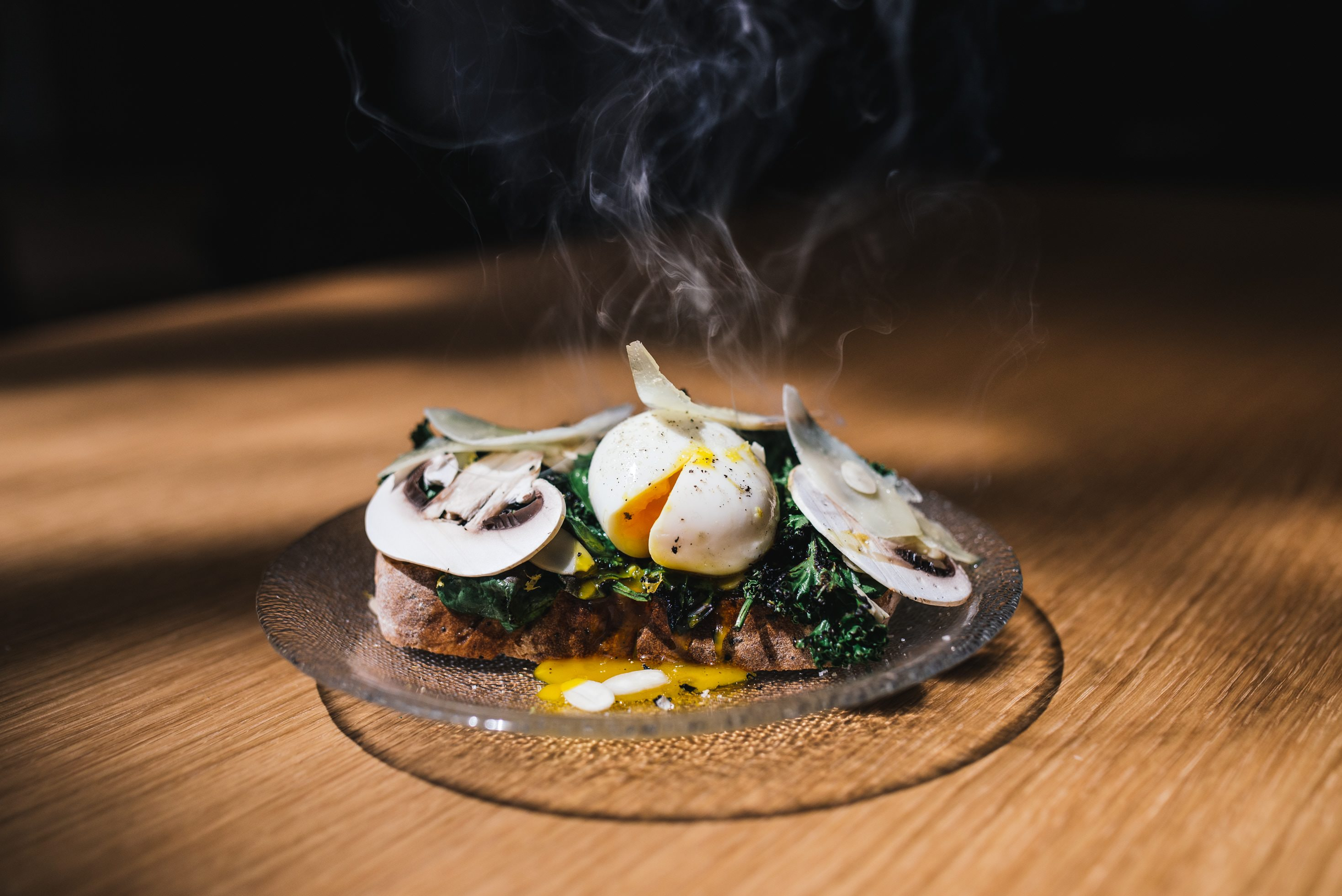 Getting portion sizes right with this Mushroom and Poached Eggs on toast according to May Simpkin