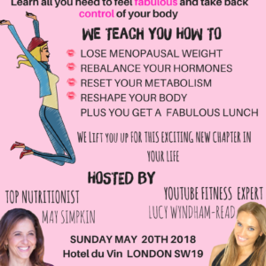 Nutrition & Fitness for the Ultimate Menopause Makeover Event Sunday 20th May 2018