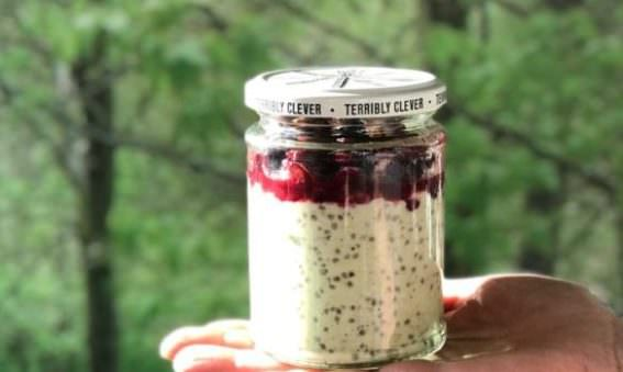 High Protein Overnight Oats on the go; May Simpkin Nutrition