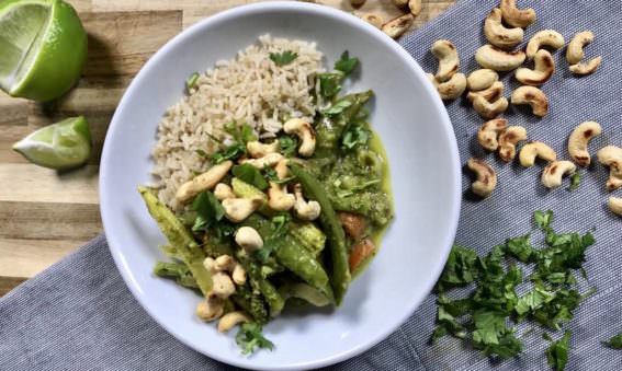Quick and Easy Vegan Thai Green curry