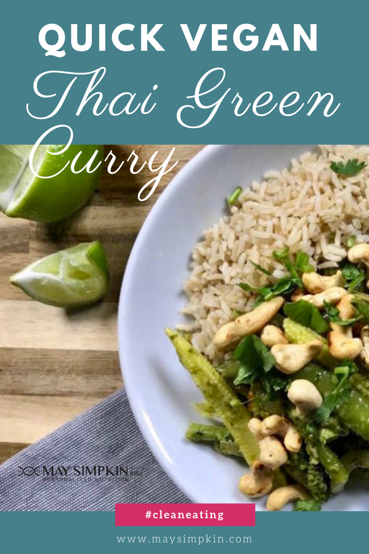 Quick Vegan Thai Green Curry Pinterest May Simpkin