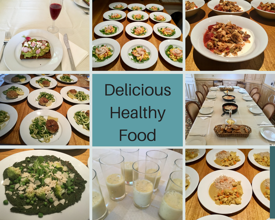 Retreat Food Collage
