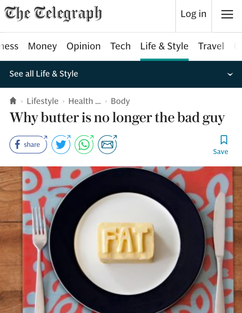 Why butter is no longer the bad guy