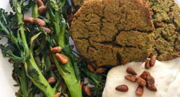 Protein Rich Baked Chickpea Falafel Vegan Burger