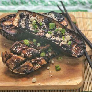 Vegan miso aubergine