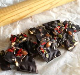 Ridiculously Healthy Dark Chocolate Bark