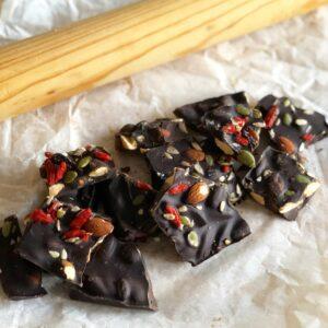 Ridiculously Healthy Dark Chocolate Bark