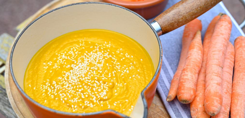 Dairy free Creamy Ginger Carrot Soup