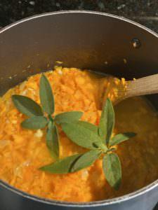 Sage infused Pumpkin Soup