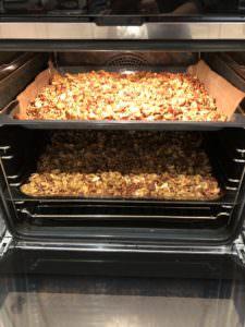 Healthy homemade granola golden brown