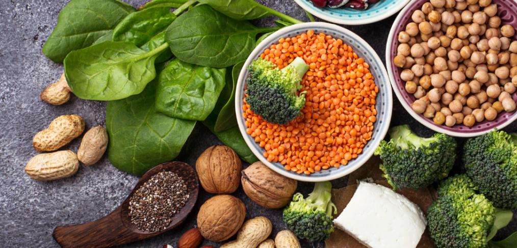 Vegan protein foods; healthy eating habits