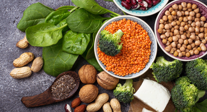 Vegan protein foods; healthy eating habits