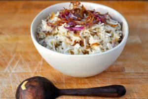 Delicious Plant based Indian Food; Jeera Basmati Rice