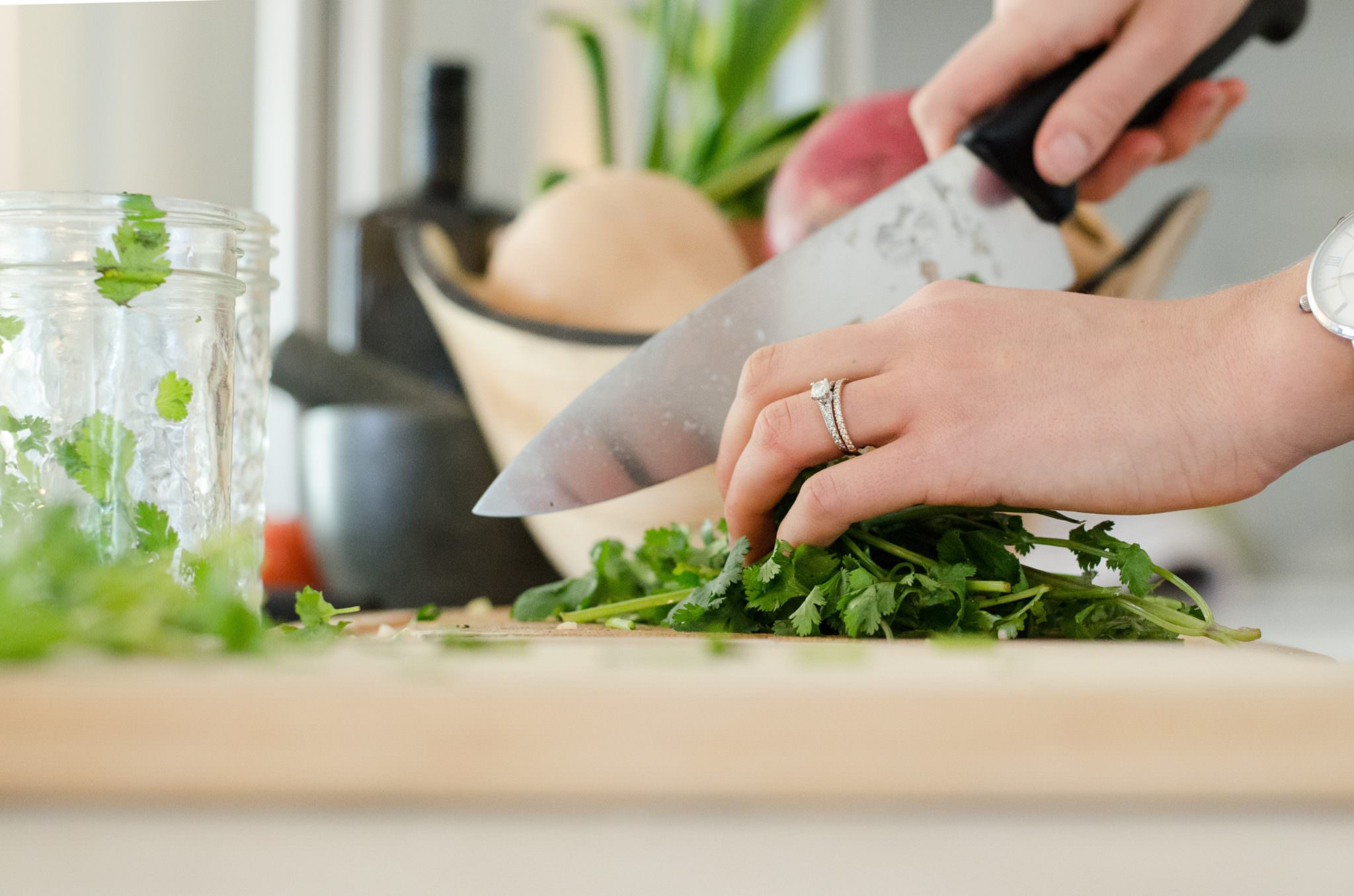 Chopped herbs; foods to freeze