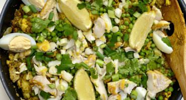 Healthy Quinoa & Cauliflower Rice Kedgeree is easy with a lock down food delivery