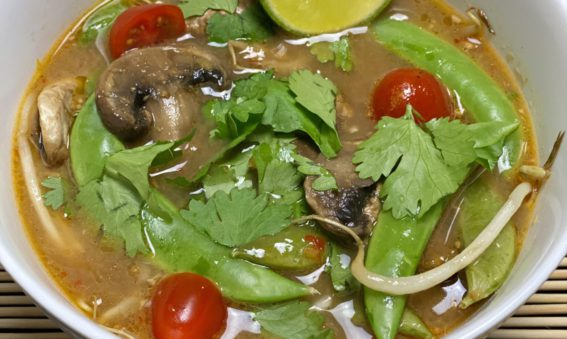 Healthy Tom Yum Miso Soup