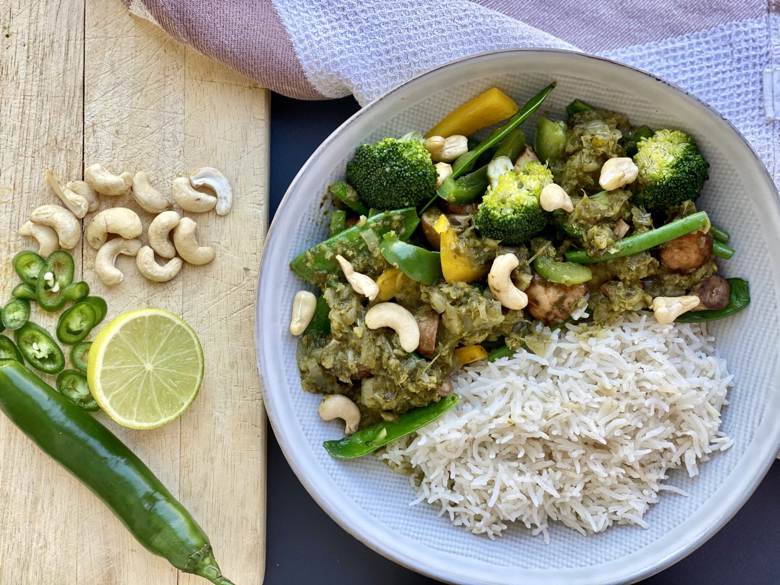 The tastiest Vegan Thai Green Curry from May Simpkin