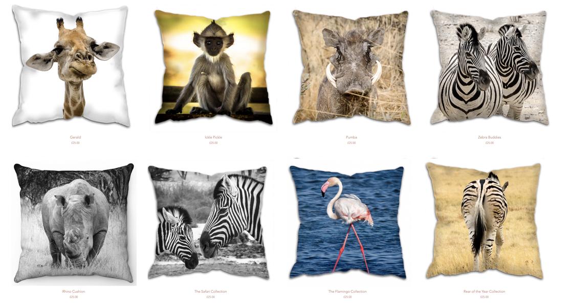 Festive Gift Guide; Zawadi print cushions