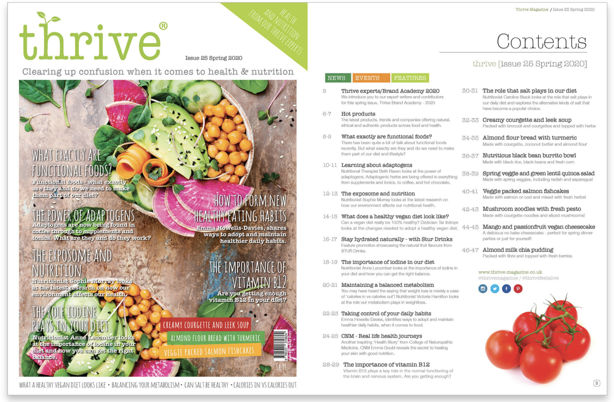 Festive Gifts; Subscribe to Thrive Magazine