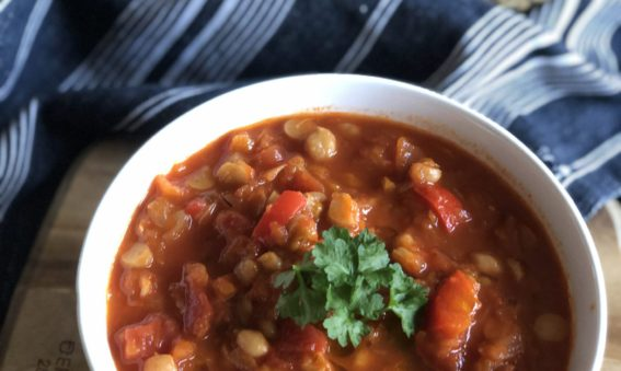 Spiced Tomato and Chickpea soup from May Simpkin