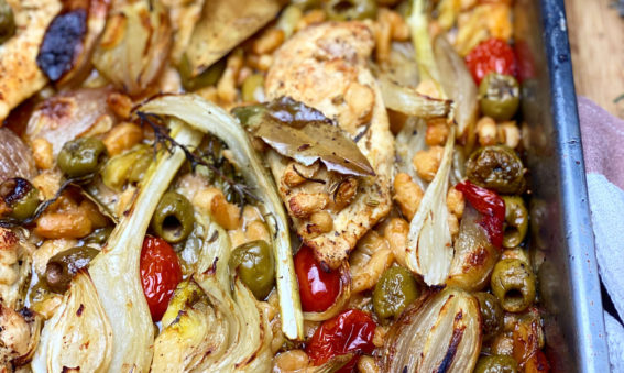 Easy Chicken and Fennel Traybake