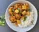 Roasted Cauliflower and Chickpea Curry with Crispy Tofu