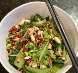 Aromatic Asian Noodle Soup; packed with leafy greens