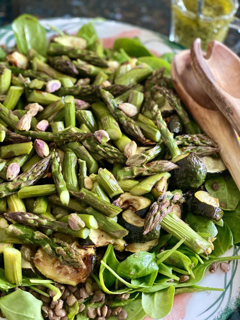 Supergreens Pesto Lentil Salad