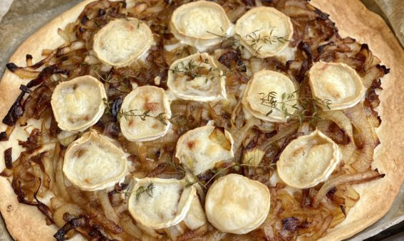 Balsamic Onion and Goat's Cheese Tart from May Simpkin